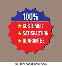 client, garantie, format, 100%, satisfaction, vecteur