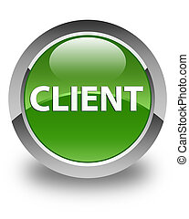 Client glossy soft green round button
