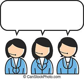 client, groupe, service