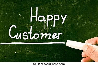 client, heureux