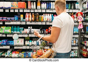 client, hygiène personnelle, produits, choisir, mâle