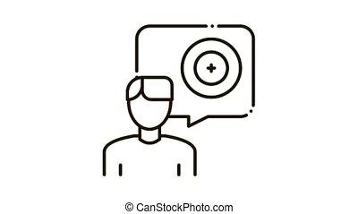 client, magasin, réparation, icône, animation, pneu