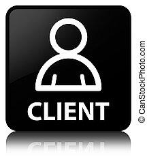 Client (member icon) black square button