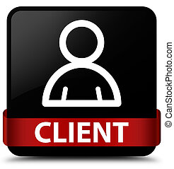 Client (member icon) black square button red ribbon in middle