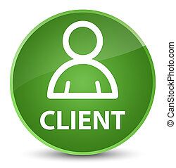 Client (member icon) elegant soft green round button