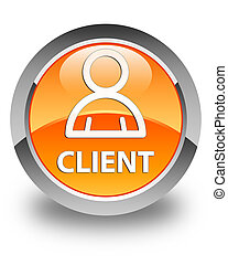 Client (member icon) glossy orange round button
