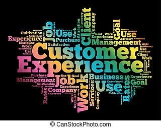 client, mot, expérience, nuage