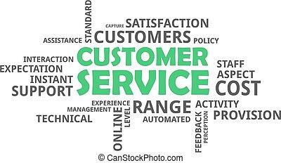 client, mot, -, nuage, service