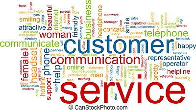 client, mot, service, nuage