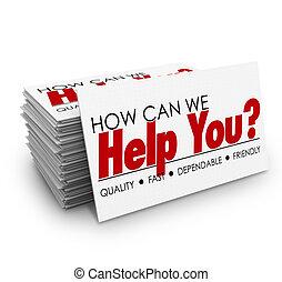 client, nous, aide, service, business, comment, boîte, cartes, vous