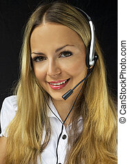 client, opérateur, amical, service