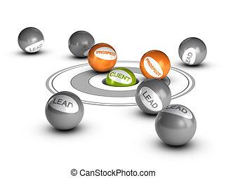 client, plomb, -, perspective, client, élever, ou