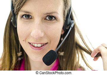 client, portrait, représentant, service