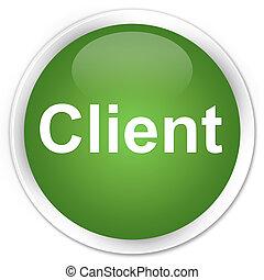 Client premium soft green round button