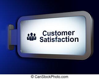 client, professionnels, satisfaction, publicité, concept: