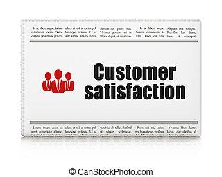client, professionnels, satisfaction, publicité, journal, nouvelles, concept: