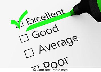 client, qualité, enquête, service, excellent
