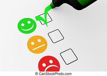 client, qualité, réaction, business, heureux