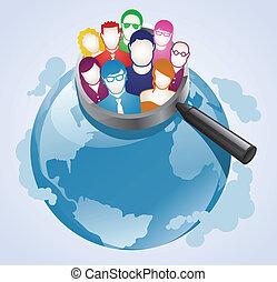 client, recherche, global