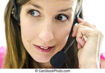 client, représentant, service, inquiété
