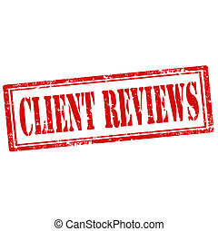 Client Reviews-stamp - Grunge rubber stamp with text Client...