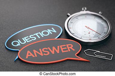 client, service., efficace, concept, temps, attente