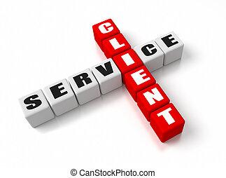 Client Service crosswords. Part of a business concepts...