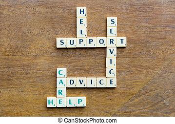 Client support crossword