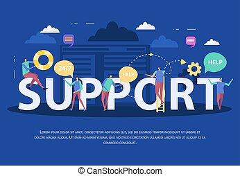 Client Support Service Flat Composition