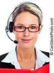 client, téléopérateur, operator.
