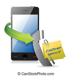 client, téléphone, soutien, concept