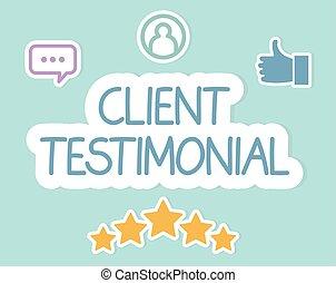 client testimonial text concept- vector illustration