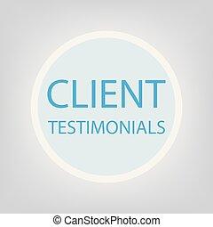client testimonials concept