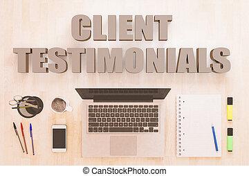 Client Testimonials text concept