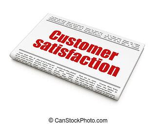 client, titre, satisfaction, publicité, journal, nouvelles, concept: