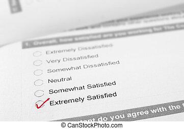 client, vérifié, satisfait, satisfaction, enquête, extrêmement