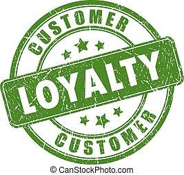 client, vecteur, loyauté, timbre, caoutchouc