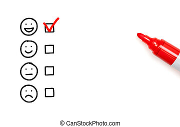 client, vide, évaluation, service, formulaire, impressionnant