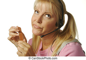 cliente, aburrido, servicio
