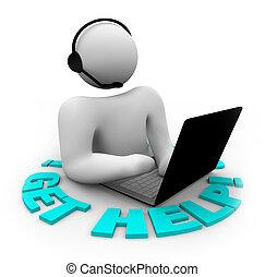 cliente, aiuto, ottenere, sostegno, -, persona