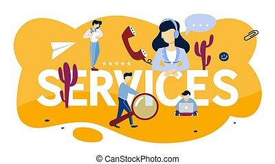 cliente, aiuto, servizio, concept., idea, sostegno