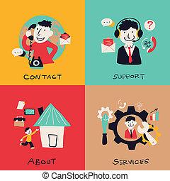 cliente, appartamento, affari, servizio, disegno, concetti