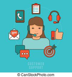 cliente, appartamento, concetto, servizio, vettore