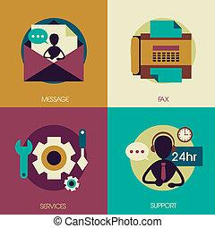 cliente, appartamento, disegno, servizio, concetti