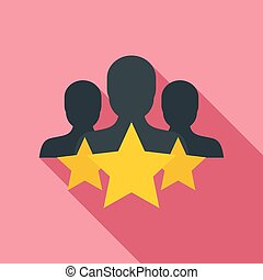 cliente, appartamento, stile, stella, icona, ritenzione