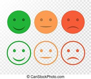 cliente, avaliação, emoticons, positivo, negative., set.,...
