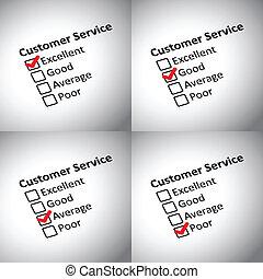 cliente, avaliação, forma
