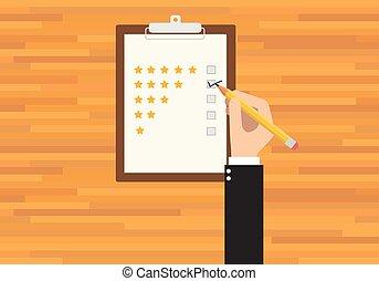 cliente, avaliação, serviço