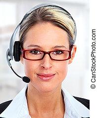 cliente, centro chiamata, operator.
