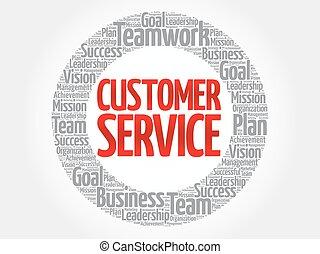 cliente, cerchio, parola, servizio, nuvola